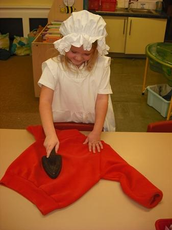 History - homes - using an old iron!