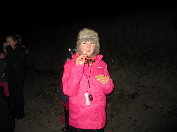 Hannah was our 'ace' s'more finder.