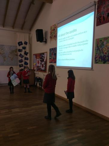Year 4 and 5 girls lead a Thinking day assembly