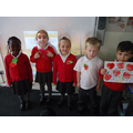 We made poppies for Remembrance Day.