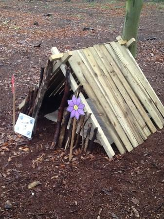 The second house was made of sticks!