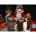 Father Christmas visits school.