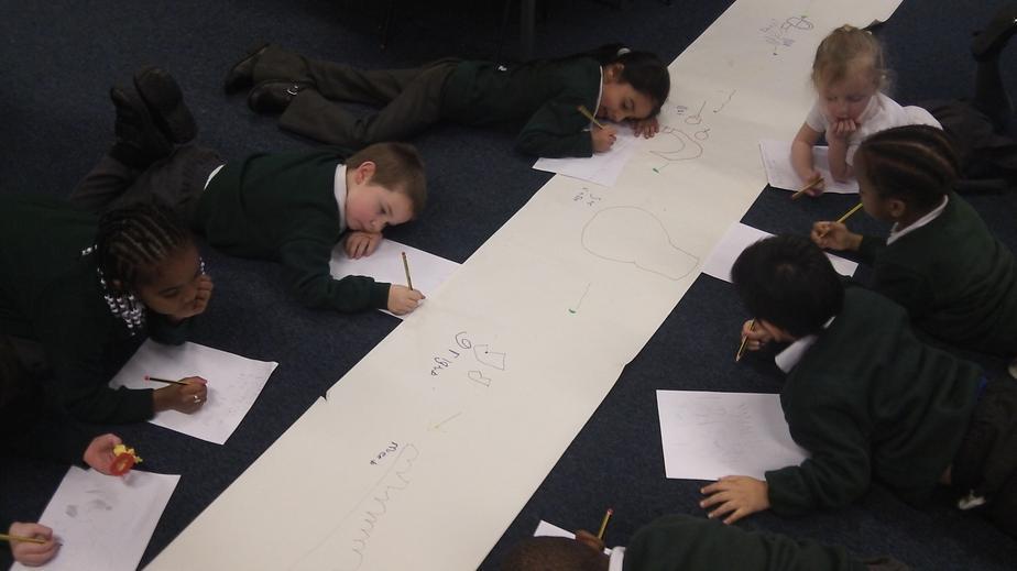 Children wrote independently.