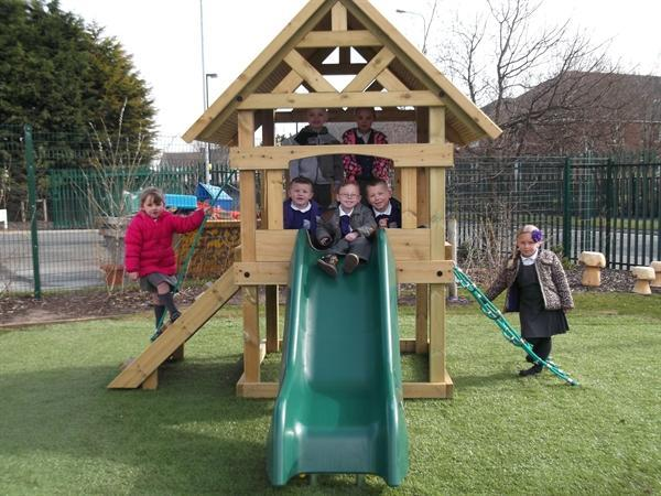 We love our new climbing frame
