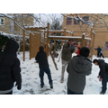 Year 6 playing in the snow