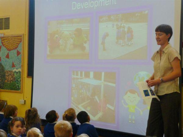 Our wonderful Reception Assembly for our visitors