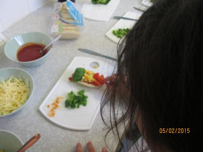 Then we added our traffic light ingredients.