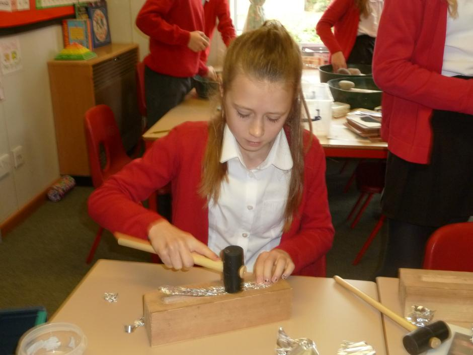 We used a mould and hammer ...