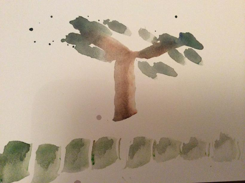 Matthew's painting of a tree.
