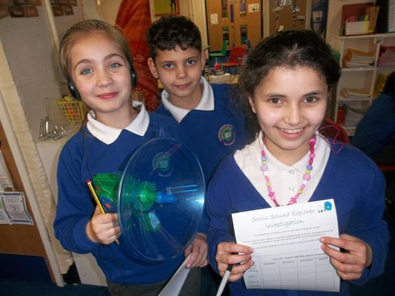Year Four discovering sound with the 'Sonic Sound