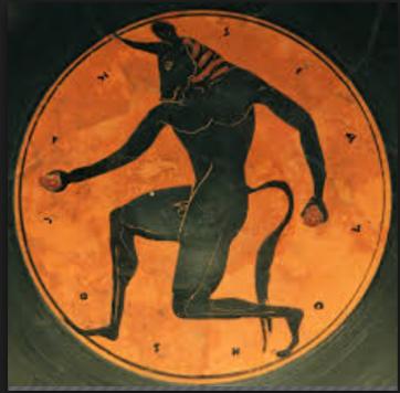 The minotaur- a Greek mythical creature