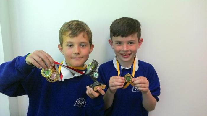 Ethan and Louis - football champs!