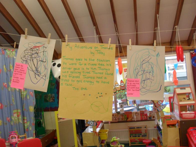 Telling our first stories in Nursery