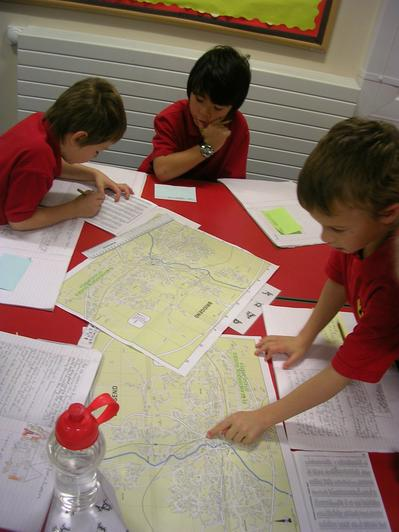 Using co-ordinates to locate our houses on maps.