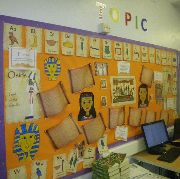 Year 6 History Board - Ancient Egypt.