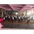 Yoga demonstration.