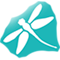 Small dragonfly logo icon