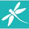 Small dragonfly logo icon
