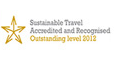 Sustainable travel Accredited and Recognised Outstanding 2012 award