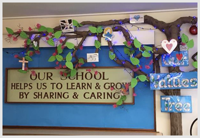 School values tree photo